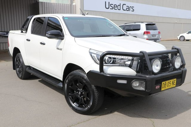 Used Toyota Hilux GUN126R Rogue Double Cab Wagga Wagga, 2018 Toyota Hilux GUN126R Rogue Double Cab White 6 Speed Sports Automatic Utility