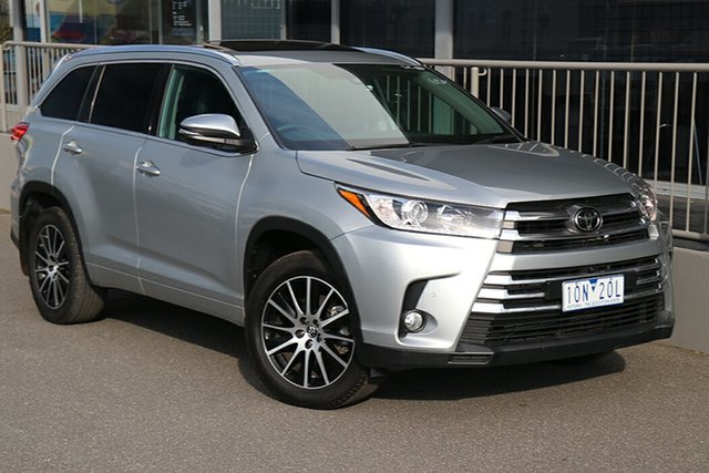 Pre-Owned Toyota Kluger GSU50R Grande 2WD Preston, 2017 Toyota Kluger GSU50R Grande 2WD Silver 8 Speed Sports Automatic Wagon