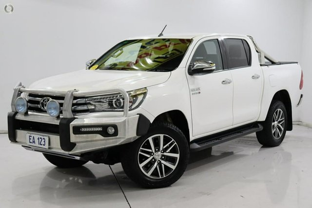 Used Toyota Hilux GUN126R SR5 Double Cab Edgewater, 2016 Toyota Hilux GUN126R SR5 Double Cab White 6 Speed Sports Automatic Utility