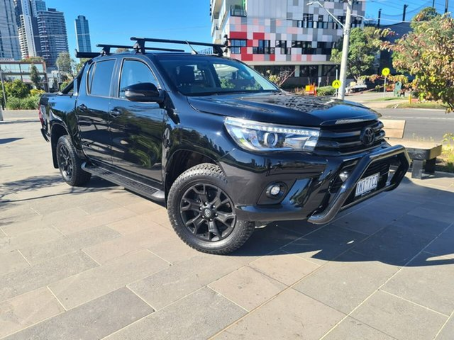Used Toyota Hilux GUN126R SR5 Double Cab South Melbourne, 2018 Toyota Hilux GUN126R SR5 Double Cab Black 6 Speed Sports Automatic Utility