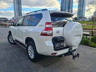 2014 Toyota Landcruiser Prado KDJ150R MY14 VX White 5 Speed Sports Automatic Wagon.