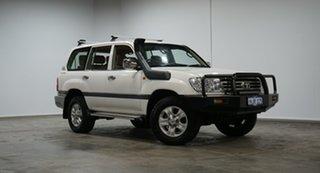 2006 Toyota Landcruiser HDJ100R GXL White 5 Speed Automatic Wagon.