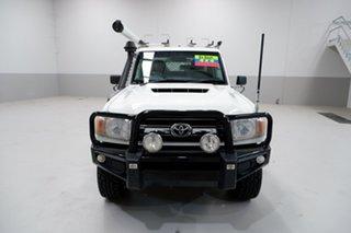 2016 Toyota Landcruiser VDJ79R GXL White 5 Speed Manual Cab Chassis.