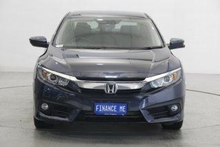 2018 Honda Civic 10th Gen MY18 VTi-L Blue 1 Speed Constant Variable Sedan.
