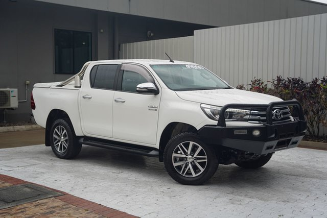 Used Toyota Hilux GUN126R SR5 Double Cab Cairns, 2016 Toyota Hilux GUN126R SR5 Double Cab White 6 Speed Sports Automatic Utility