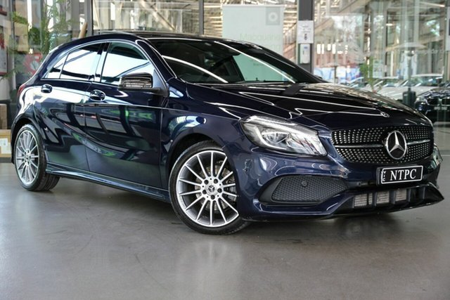 Used Mercedes-Benz A-Class W176 808+058MY A200 d DCT North Melbourne, 2018 Mercedes-Benz A-Class W176 808+058MY A200 d DCT Blue 7 Speed Sports Automatic Dual Clutch
