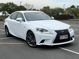 2013 Lexus IS GSE30R IS250 F Sport White 6 Speed Sports Automatic Sedan.