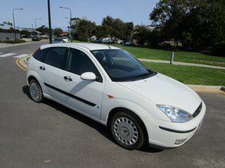 2004 Ford Focus LR CL White 4 Speed Automatic Hatchback.