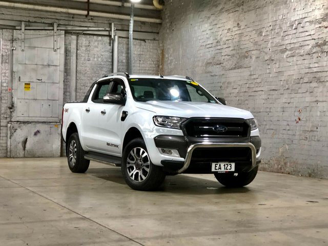 Used Ford Ranger PX MkII Wildtrak Double Cab Mile End South, 2017 Ford Ranger PX MkII Wildtrak Double Cab White 6 Speed Sports Automatic Utility