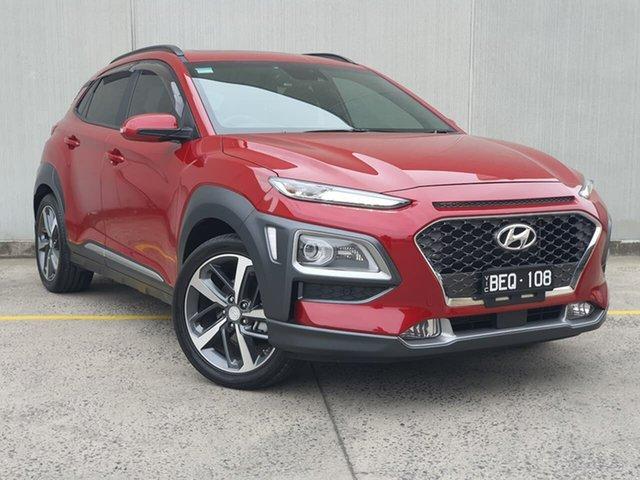 Used Hyundai Kona OS.3 MY20 Highlander 2WD Oakleigh, 2020 Hyundai Kona OS.3 MY20 Highlander 2WD Red 6 Speed Sports Automatic Wagon