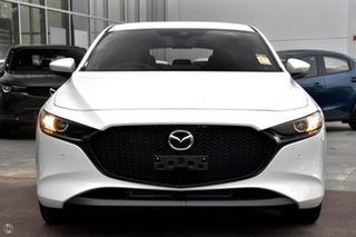 2021 Mazda 3 BP2H7A G20 SKYACTIV-Drive Touring White 6 Speed Sports Automatic Hatchback.