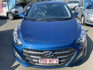 2015 Hyundai i30 GD4 Series II MY16 Active X Dazzling Blue 6 Speed Sports Automatic Hatchback.