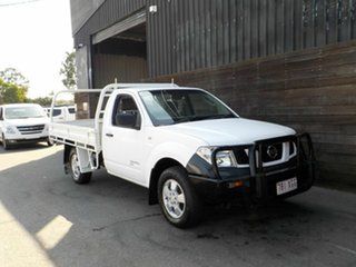 2010 Nissan Navara D40 RX White 6 Speed Manual Cab Chassis.