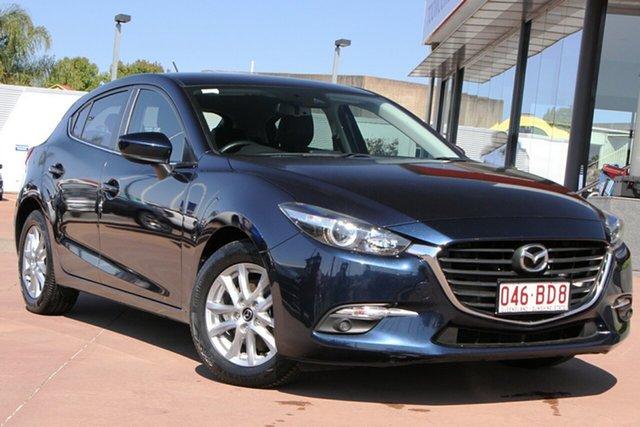 Used Mazda 3 BN5478 Touring SKYACTIV-Drive Toowoomba, 2017 Mazda 3 BN5478 Touring SKYACTIV-Drive Blue 6 Speed Sports Automatic Hatchback