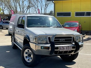 2004 Ford Courier PG GL Crew Cab White 5 Speed Manual Cab Chassis.