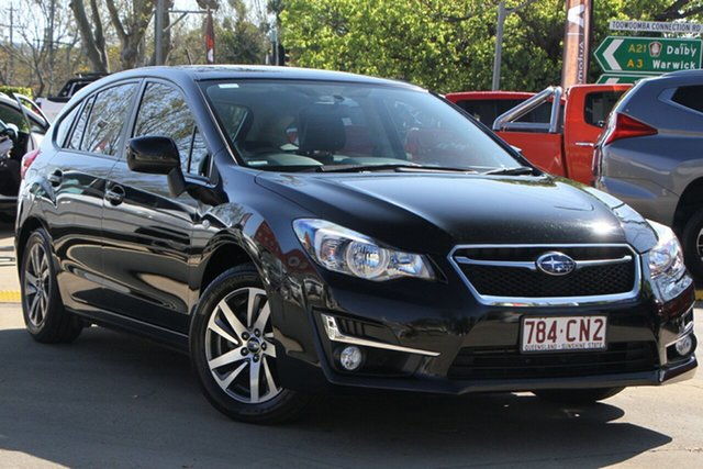 Used Subaru Impreza G4 MY16 2.0i Lineartronic AWD Premium Toowoomba, 2015 Subaru Impreza G4 MY16 2.0i Lineartronic AWD Premium Black 6 Speed Constant Variable Hatchback