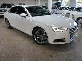 2017 Audi A4 B9 8W MY17 Sport S Tronic White 7 Speed Sports Automatic Dual Clutch Sedan.