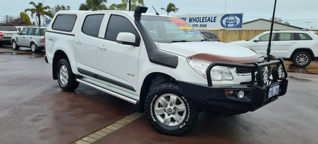 Used Holden Colorado RG MY13 LT Crew Cab East Bunbury, 2012 Holden Colorado RG MY13 LT Crew Cab White 5 Speed Manual Utility