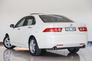 2003 Honda Accord Euro CL Luxury White 5 Speed Automatic Sedan.