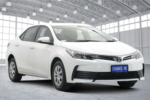 Used Toyota Corolla ZRE172R Ascent S-CVT Victoria Park, 2018 Toyota Corolla ZRE172R Ascent S-CVT White 7 Speed Constant Variable Sedan