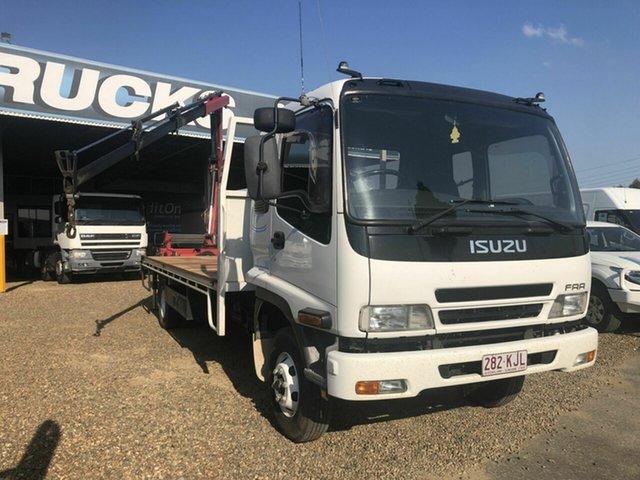Used Isuzu Rocklea, 2007 Isuzu FRR 550 White Crane Truck 7.8l