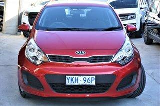 2014 Kia Rio UB MY14 S Red 6 Speed Manual Hatchback.