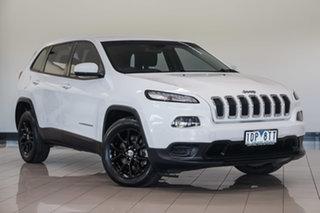 2014 Jeep Cherokee KL MY15 Sport White 9 Speed Sports Automatic Wagon.