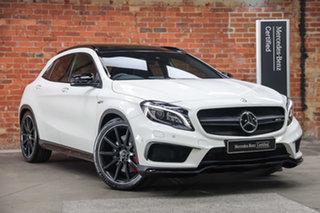 2015 Mercedes-Benz GLA-Class X156 805+055MY GLA45 AMG SPEEDSHIFT DCT 4MATIC Cirrus White 7 Speed.