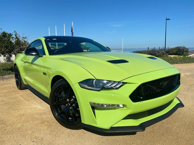 Used Ford Mustang FN 2020MY GT Christies Beach, 2019 Ford Mustang FN 2020MY GT Green 10 Speed Sports Automatic Fastback