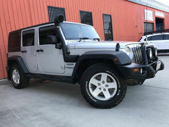 Used Jeep Wrangler JK MY2010 Unlimited Sport Molendinar, 2010 Jeep Wrangler JK MY2010 Unlimited Sport Silver 6 Speed Manual Softtop