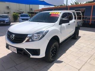 2019 Mazda BT-50 UR0YG1 XT White 6 Speed Manual Cab Chassis.