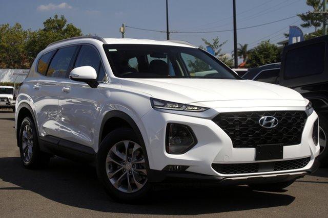Used Hyundai Santa Fe TM MY19 Active Mount Gravatt, 2018 Hyundai Santa Fe TM MY19 Active White 8 Speed Sports Automatic Wagon