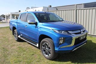 2020 Mitsubishi Triton MR MY21 GLX-R Double Cab Blue 6 Speed Sports Automatic Utility.