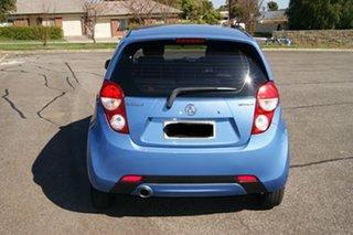 2015 Holden Barina Spark MJ MY15 CD Blue 5 Speed Manual Hatchback.