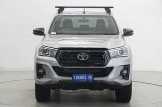 2018 Toyota Hilux GUN126R Rogue Double Cab Silver 6 Speed Sports Automatic Utility.