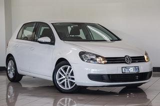 2010 Volkswagen Golf VI MY10 118TSI DSG Comfortline White 7 Speed Sports Automatic Dual Clutch.