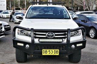 2016 Toyota Hilux GUN126R SR5 Double Cab White 6 Speed Sports Automatic Utility.