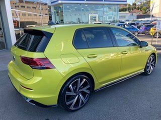 2021 Volkswagen Golf 8 MY21 110TSI R-Line Pomelo Yellow 8 Speed Sports Automatic Hatchback.
