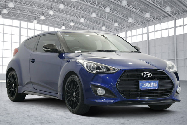 Used Hyundai Veloster FS5 Series II Street Coupe D-CT Victoria Park, 2016 Hyundai Veloster FS5 Series II Street Coupe D-CT Blue 7 Speed Sports Automatic Dual Clutch