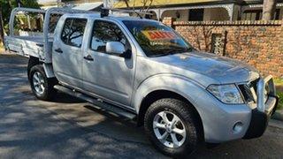 2014 Nissan Navara D40 MY12 ST (4x4) Silver 5 Speed Automatic Dual Cab Pick-up.