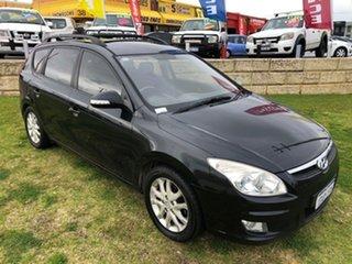 2009 Hyundai i30 FD MY09 SLX cw Wagon Black 4 Speed Automatic Wagon.