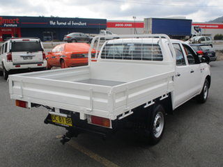 2012 Toyota Hilux TGN16R MY12 Workmate White 5 Speed Manual Dual Cab Pick-up.
