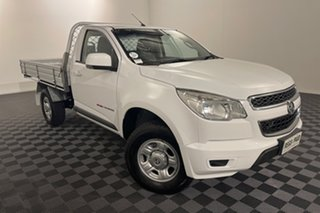 2014 Holden Colorado RG MY15 LS White 6 speed Automatic Cab Chassis.