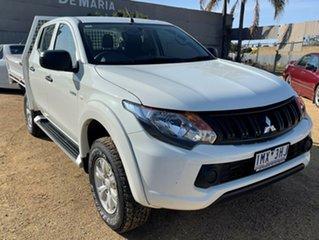 2017 Mitsubishi Triton White Automatic Utility.