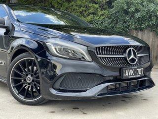 2018 Mercedes-Benz A-Class W176 808+058MY A200 DCT Night Black 7 Speed Sports Automatic Dual Clutch.