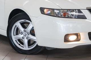 2003 Honda Accord Euro CL Luxury White 5 Speed Automatic Sedan