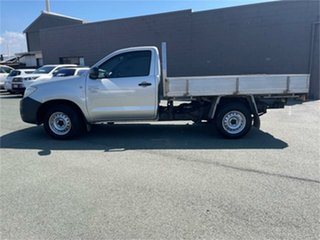 2011 Toyota Hilux TGN16R MY11 Upgrade Workmate Silver 5 Speed Manual Cab Chassis