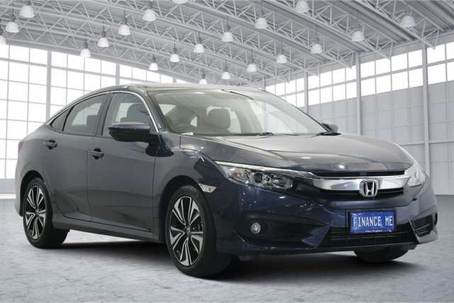 Used Honda Civic 10th Gen MY18 VTi-L Victoria Park, 2018 Honda Civic 10th Gen MY18 VTi-L Blue 1 Speed Constant Variable Sedan