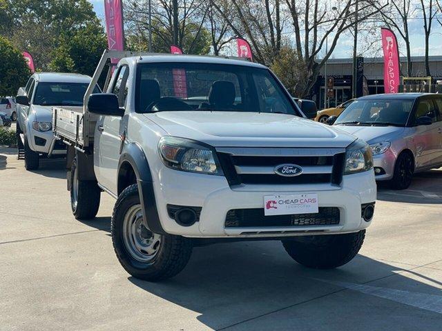 Used Ford Ranger PJ XL Hi-Rider Toowoomba, 2009 Ford Ranger PJ XL Hi-Rider White 5 Speed Manual Cab Chassis
