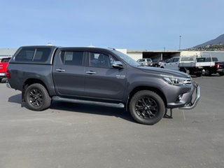 2017 Toyota Hilux GUN126R SR5 Double Cab Grey Seats, Black Rest Fabric 6 Speed Sports Automatic.
